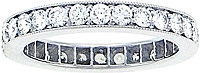 18k White Gold 1.10ct Pave Diamond Eternity Band