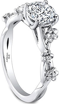 Jeff Cooper Floral Diamond Engagement Ring
