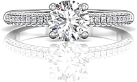 Martin Flyer Micropave Diamond Engagement Ring