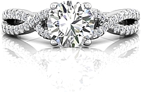 Martin Flyer Pave Twist Diamond Engagement Ring