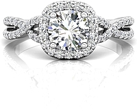Martin Flyer Twist Shank Diamond Engagement Ring