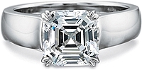 Precision Set Solitaire Wide Shank Diamond Engagement Ring