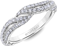 Scott Kay Twist Diamond Wedding Band