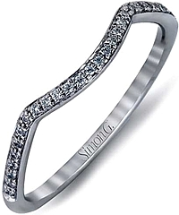 Simon G Pave Contoured Diamond Wedding Band