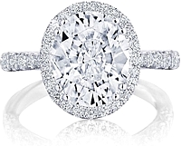Tacori Pave Halo Diamond Engagement Ring