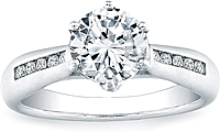 Vatche Channel-set Royal Crown Engagement Ring .15ct tw