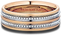 Verragio Rose Gold Men's Wedding Band