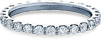 Verragio Round Brilliant Cut Diamond Eternity Wedding Band