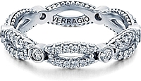 Verragio Twist Bezel Set Diamond Wedding Band